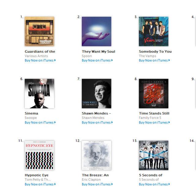 Swoope Sinema iTunes chart