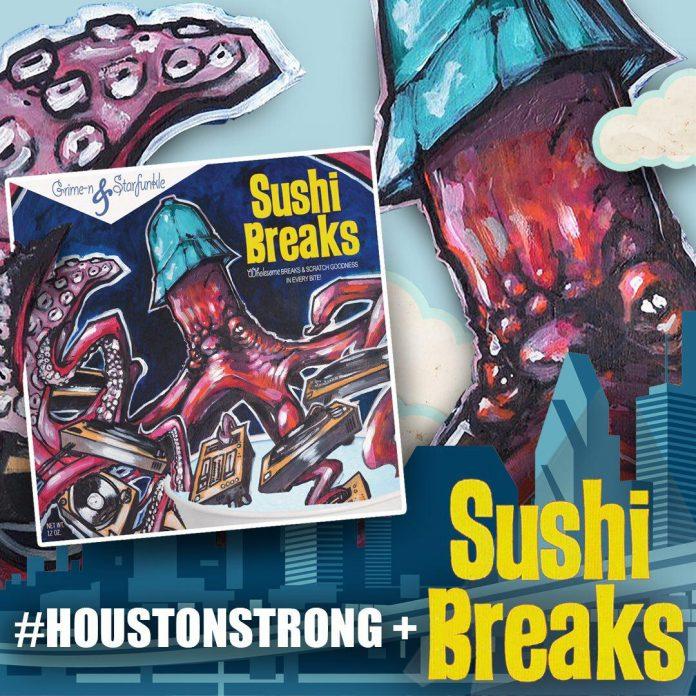 Help feed displaced families in Houston: Sushi Breaks vinyl
